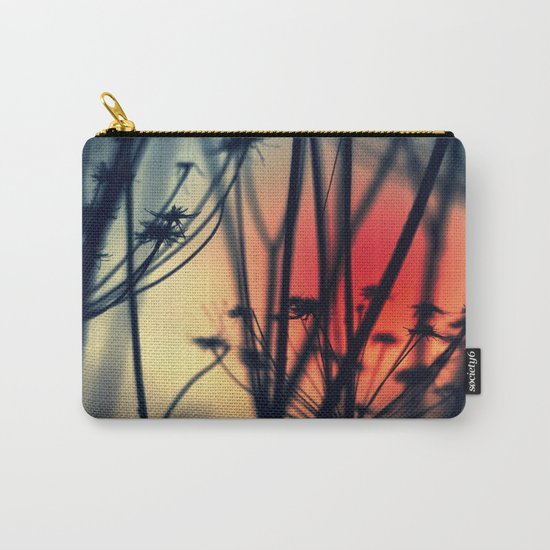 Shapes - dry weeds at sunrise Carry-All Pouch