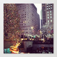 Rockefeller Center at Christmas Canvas Print
