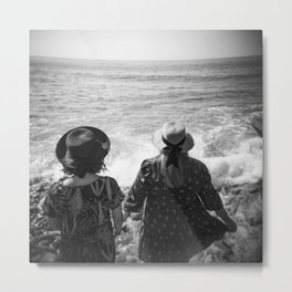 """Sisters on the Shoreline"" Holga photograph Metal Print"