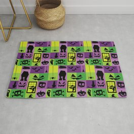 Purple Spoopy Pattern Rug