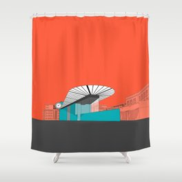 Turquoise Island Shower Curtain