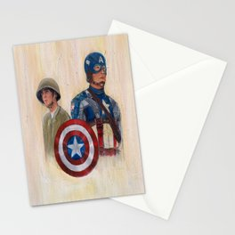 stay who you are, not a perfect soldier, but a good man... Captain America Stationery Cards