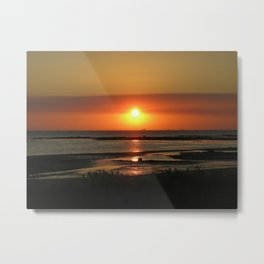 Angel Wings Sunset Metal Print