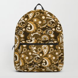 Golden Haze Paisley Backpack