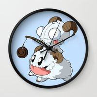 invader zim Wall Clocks featuring Invader Poro by HelloTwinsies