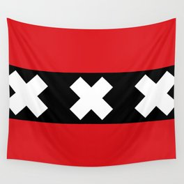 Flag of Amsterdam Wall Tapestry