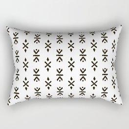 Black and white indian boho summer ethnic arrows Rectangular Pillow