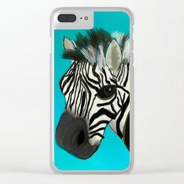 Color Pop Zebra Clear iPhone Case