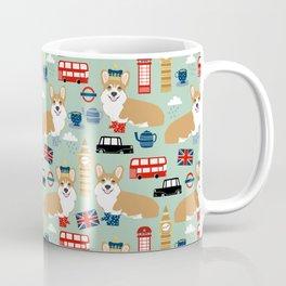 Welsh Corgi london england pattern cute corgis in britain dog breeds by pet friendly Coffee Mug