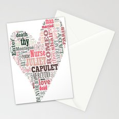 Shakespeare's Romeo and Juliet Heart Stationery Cards