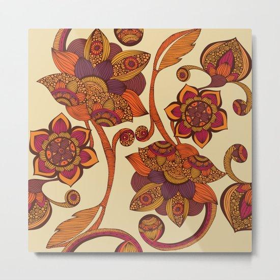 Boho Flowers Metal Print