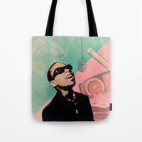 stevie nicks Tote Bags featuring Stevie by Nope