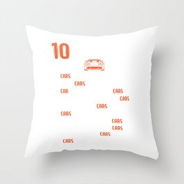 Racing Shirt With A Mini Illustration Of A Car T-shirt Design Made Perfectly For Car Racers! Throw Pillow