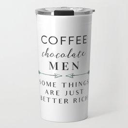 Coffee Chocolate Men Travel Mug
