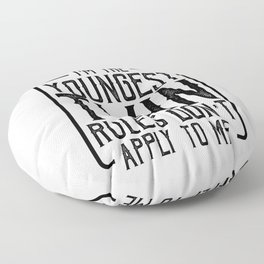Twin Humor Gifts Youngest Twin Rules Don't Apply Twin Gifts Floor Pillow
