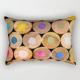 COLORED PENCILS 3 Rectangular Pillow