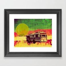 going west (ANALOG ZINE) Framed Art Print