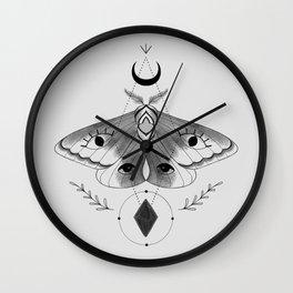 Mystic Moth - Gray Wall Clock