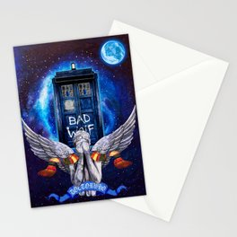 The Angel with Tardis Stationery Cards