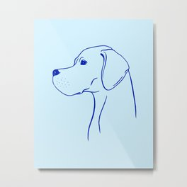 English Pointer (Light Blue and Blue) Metal Print