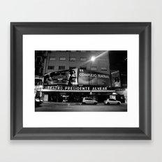 Teatro Framed Art Print