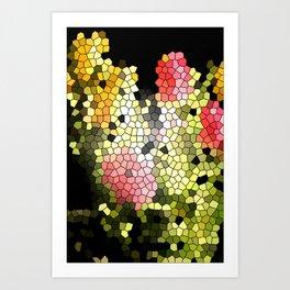 Flower Puzzle Art Print