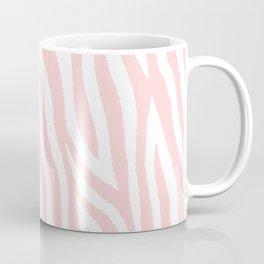 Pale pink zebra fur pattern 04 Coffee Mug