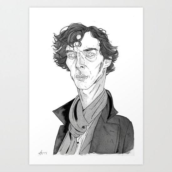 Benedict Cumberbatch - Sherlock Art Print
