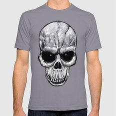 Skull Gaze Mens Fitted Tee SMALL Slate