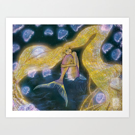 Glowing Maiden Art Print