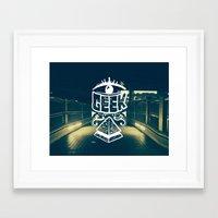 geek Framed Art Prints featuring GEEK by YTRKMR