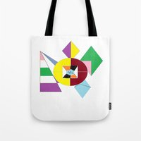 nfl Tote Bags featuring NFL Abstract by Franky Fleece