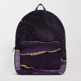 Agate Purple Gold Glitter Design Backpack