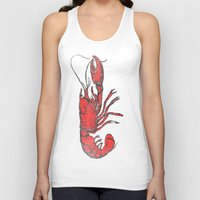 lobster Tank Tops featuring Lobster by Carl Christensen