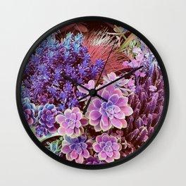 Succulent Garden View Wall Clock