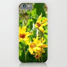 Yellow Wild Flowers Slim Case iPhone 6s