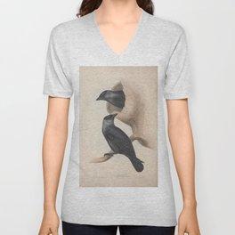 Jackdaw corvus monedula11 Unisex V-Neck