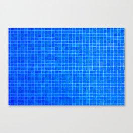 Blue mozaic tiles Canvas Print