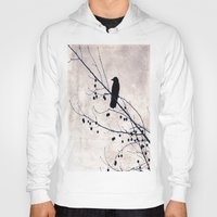 crow Hoodies featuring Crow by Maite Pons