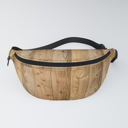 Wood Planks Dark Fanny Pack