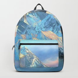 Panoramic Sunrise View Of Everest Mountain Backpack