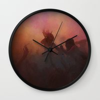 freedom Wall Clocks featuring freedom by Nechifor Ionut