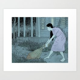 Clean Up Art Print