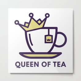 Queen Of Tea Metal Print