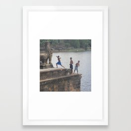 Big Smile Framed Art Print