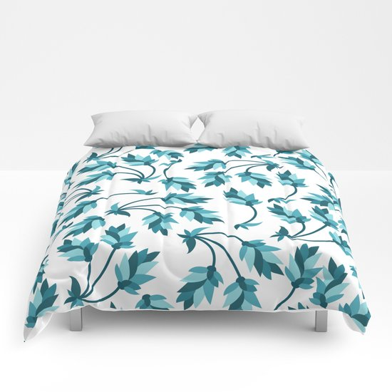 Blue branches pattern Comforters