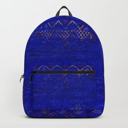 -A5- Royal Calm Blue Bohemian Moroccan Artwork. Backpack