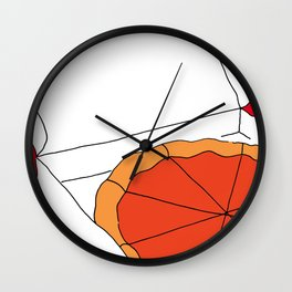 Hot Pizza Box Wall Clock