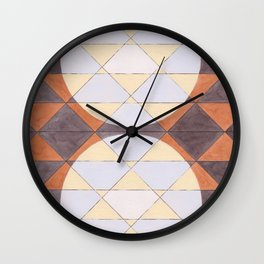 Triangles and Circles Pattern no.24 Wall Clock
