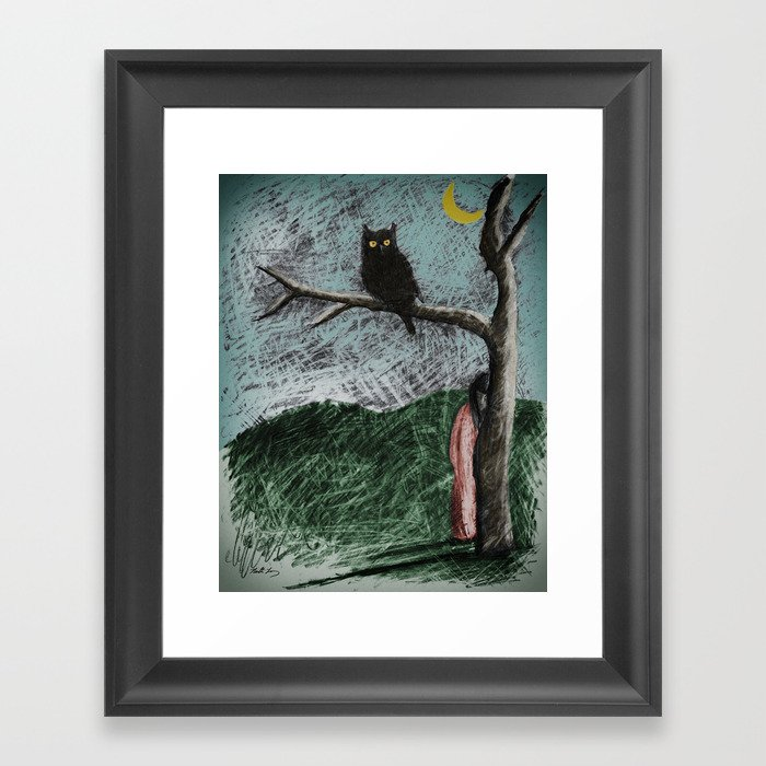 "Meeting Owl - From ""Helpers"" Framed Art Print"